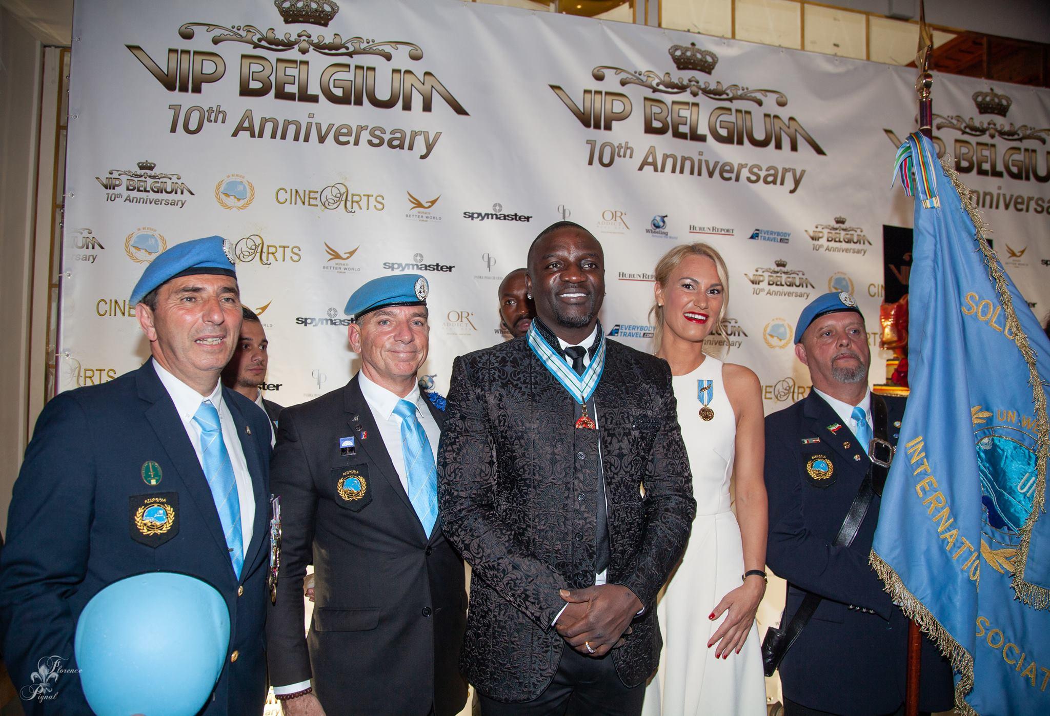 L'AISP/SPIA récompense des ambassadeurs de la Paix et le chanteur Akon au festival de Cannes 2018