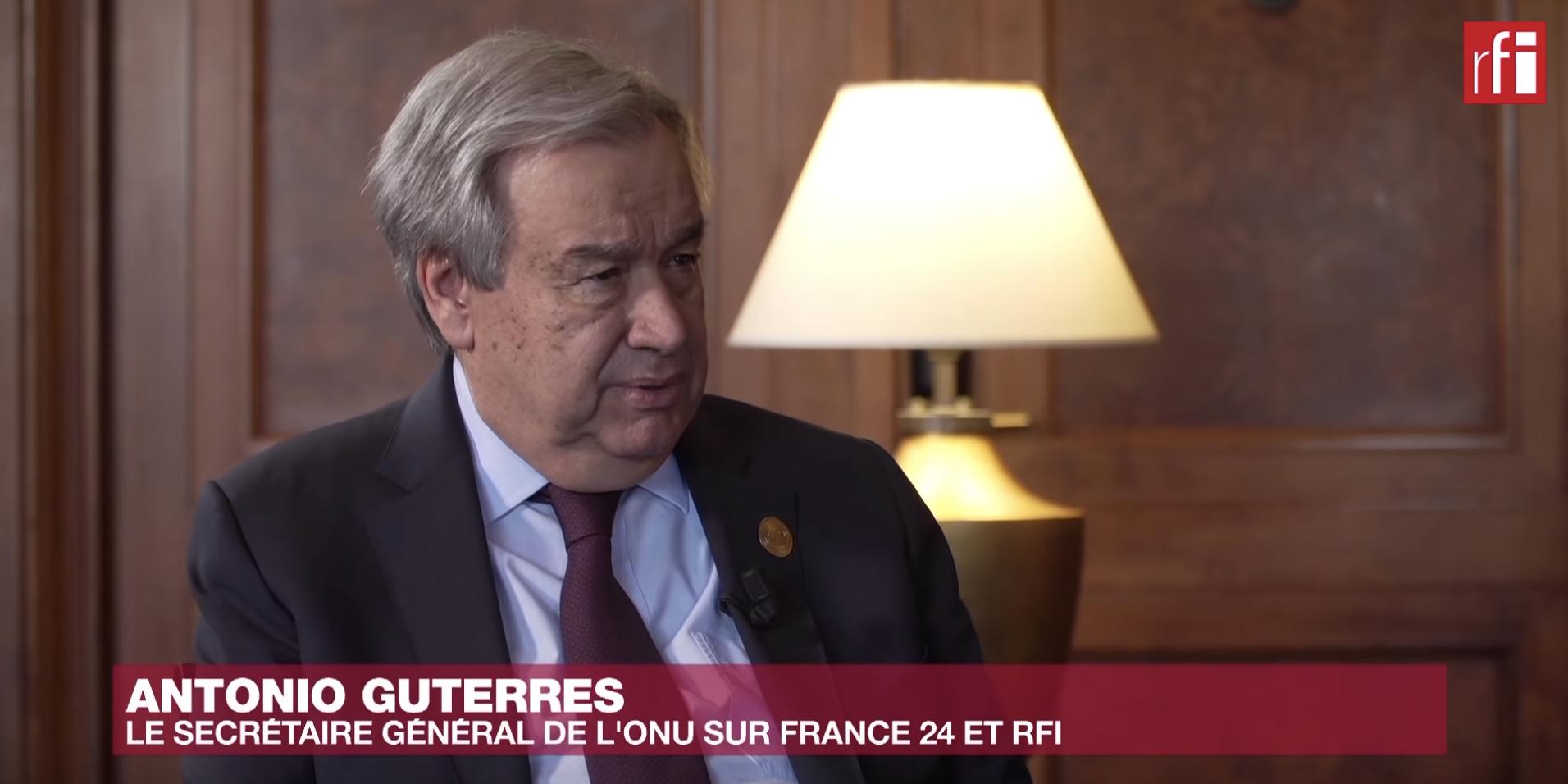 Interview d'Antonio Guterres le 9 février 2020 sur RFI