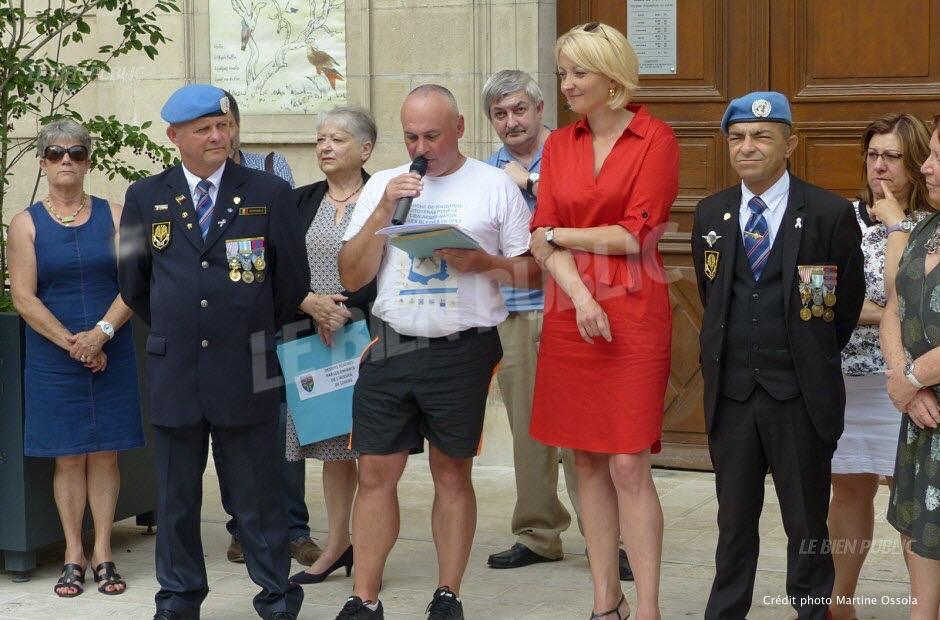 Marche pour la Paix et les Soldats Blessés à son service – étape à Montbard